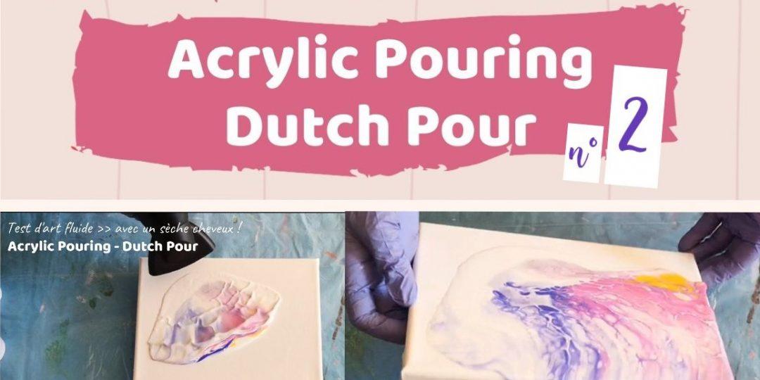 Technique du Dutch Pour en Acrylic Pouring par Cécile Cloarec