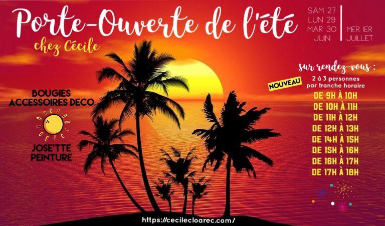 Porte-Ouverte de l'été PartyLite et josette et peinture chez Cécile Cloarec