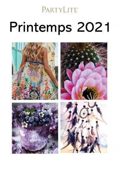 Catalogue Printemps 2021 PartyLite Cécile Cloarec